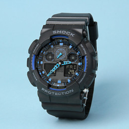 Wholesale led pointer watch mens - top quality All pointer work ga100 Led Army Military Shocking Watches Mens Waterproof Watch Digital g Sports Wristwatch