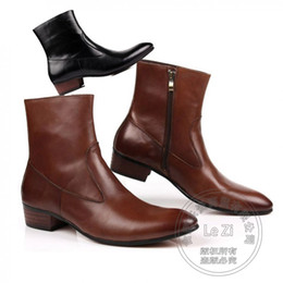 Wholesale Korean Man Shoes Style - usiness 42 Number Shoes Korean Version Boots Classic British Style Casual Winkle Picker Funky Cowhide New Thread Booties