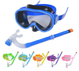 Wholesale Dive Breathing - Water Sports Children Swimming Goggles Diving Glasses Set With Breathing Tube Swimwear For Kids #YJ01