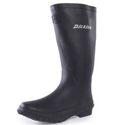 Wholesale High Heel Tall Fashion Boots - Wholesale- New Arrivals Men Fashion Rubber Rain Boots Knee-high Flat Heels Non-slip Rainboots Women Tall Water Shoes Wellies #TR132
