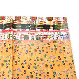Wholesale Gift Wrap Paper Sheets - Wholesale- New Santa Claus Christmas sticker kid's wrap paper sheet cute wrapping paper for birthday holiday gift