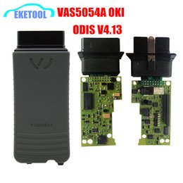 Wholesale Vag Bluetooth - Super Quality ODIS 4.13 3.0.3 Full Function VAS5054a With OKI Chip Auto Diagnoisis For VAG VAS 5054A Bluetooth Supports UDS