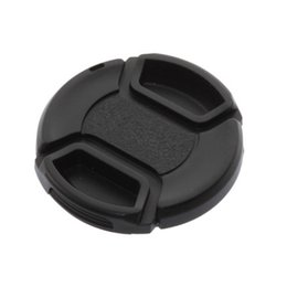 Wholesale center filter - 52mm center-pinch Front Lens Cap Cover for all 52mm lens Filter with cord Brand