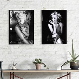 Wholesale Marilyn Monroe Art Posters - 2 paintings Marilyn Monroe home decoration painting wall art painting fashion mural canvas printing poster size 40cmx50cm 2