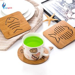 Wholesale cup holders for tables - Wholesale- 2016 New Wood Cup Coaster Placemat For Dining Table Pot Holder Antiskid Heat Insulation Table Mat Kitchen Accessories