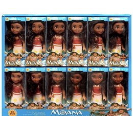 Wholesale Plush Toy Pack - 16cm x 7.5cm Moana Barbie Dolls Classic Moana Pincess Plastic Dolls Action Figure toys for Girls box pack