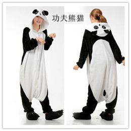 Pigiami all'ingrosso di cartone animato online-Wholesale- Ladies Ladies Cartoon Panda Adult Onesies animali Onsie Pigiama Pigiama Tute C366 S / M / L / XL / XL