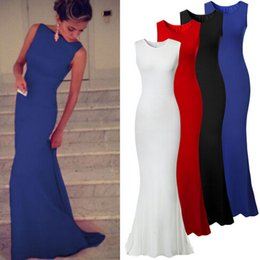 Wholesale Dresses Stretch Women - New Arrival Women Elegant Maxi Party Dress Ladies Fashion Ball Gowns Sleeveless Stretch Long Evening Dresses D453