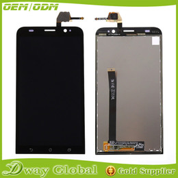Wholesale Touch Screen Digitizer For Asus - Wholesale-For Asus Zenfone 2 ZE550ML LCD Display touch screen with digitizer assembly , Black replacement part