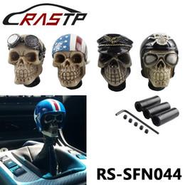Manopole del cambio del cranio online-RASTP-Racing manopola del cambio Devil capo Knob modificati resina manopola Soldato teschio con cappello e occhiali LS-SFN044
