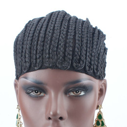 2019 parrucche di marca Black Brand Braided Cornrow Wig Cap Facile Da Cucire In Glueless Hairnet per Parrucca Fare la protezione della parrucca intrecciata 5 Pz parrucche di marca economici