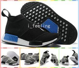 Wholesale Classic Women Running Shoes - Hot Sale NMD Runner City Sock Men Women Classic Running Shoes Cheap Fashion City Sock Cs1 Primeknit Grey Sports Sneakers Size 36-44