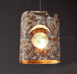 Wholesale Industrial Style Lamps - 2017 NEW LOFT Creative Industrial Style Dinning Room Bar Coffee House Personality Vintage Study Room Bedroom Iron Art Pendant Lamp MYY