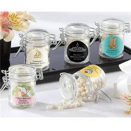 Wholesale Glass Favor Jars - FREE SHIPPIN 36PCS Glass Jars Favors Candy Boxes Wedding Favors Party Gifts Bridal Ideas 50ML Favor Jars Baby Shower
