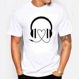 Wholesale rocking music - DJ Volume Music Rock T shirt Men Cotton casual Short Sleeve Cartoon Tee shirts Rap Hip Hop Clothing Men's T-shirt