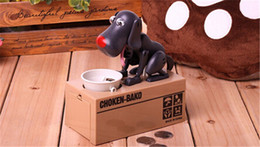 Wholesale Money Eating Piggy Bank - CHOKEN-BAKO Cute My Dog Model Piggy BANK Eat Eatten Bank Money Save Pot Saving Coin Box I Love Mony