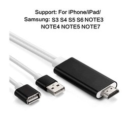 Wholesale Hdtv Adapter Ipad - HD Mirroring Cable Lightning USB to HDMI Adapter 1080P HDTV AV Adapter Output Connector for iPhone 7 7Plus iPad Samsung Galaxy Note Phone