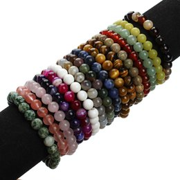 Wholesale Gemstones Stretch Bracelets - Hotsales Natural Stone Beads Turquoise Gemstone Beads Stretch High quality bead bracelets for Women Man 6mm