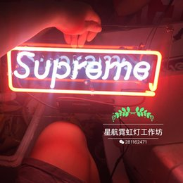 Wholesale Real Neon Bar Lights - New someper me Neon Beer Sign Bar Sign Real Glass Neon Light Beer Sign 14*9