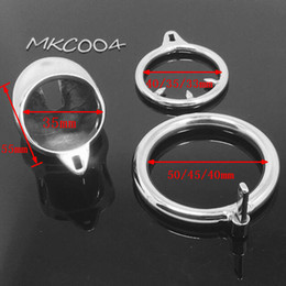 Wholesale Bdsm Male Chastity - Stainless Steel Super Small Male Chastity device Adult Cock Cage With Curve Cock Ring BDSM CB6000S cock Cage prison bird MKC004