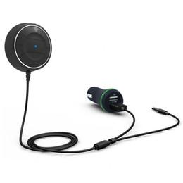 effacer lecteur mp3 Promotion Kit mains libres Bluetooth 4.0 avec fonction NFC + Chargeur AUX 3.5mm Music Aux Speakerphone 2.1A Chargeur allume-cigare USB