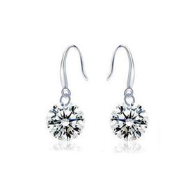 Bande de mariage nouvelle boucle d'oreille de mariage 925 diamants en argent Sterling fiançailles beaux bijoux anneau d'oreille en cristal bagues 10PCS / LOT livraison gratuite ? partir de fabricateur