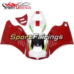 Wholesale Fairing Kits - Fairings For Ducati 996 998 916 748 96 97 98 99 00 01 02 1996 - 2002 ABS Plastic Motorcycle Fairing Kit Bodywork Red White Biposto Hulls
