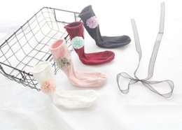 Wholesale Best Toddler Clothes - Wholesale Baby Socks cotton floral sweet Girls Knit Knee High Socks Baby Girls Cotton Sock Fashion kids best Socks Toddler Clothes