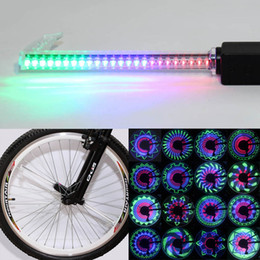 Wholesale Tire Led Color - Bike Spokes Wheel Light Led Rgb Waterproof Bicycle Wheel Lights Cool Color Changing Bike Tire Lamp Bicycle Accessories