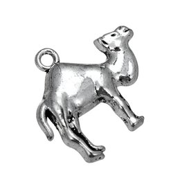 Wholesale Camel Silver Charms - 5pcs lot Antique SIlver Plated Camel & Camel Lobster Clasp Desert Animal Charm DIY Making For Bracelet&Necklace