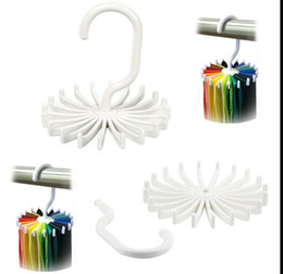 Wholesale clothes rack closet - Rotating Tie Rack Organizer Hanger Closet Organizer Hanging Storage Scarf Rack Tie Rack Holds 20 Neck Ties Hook KKA2263