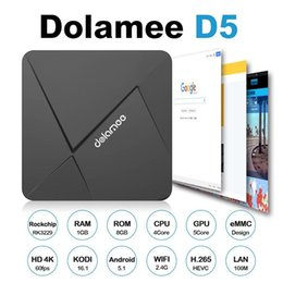 Wholesale Gpu Wholesale - TDOLAMEE D5 TV BOX Android 5.1 Smart 1 8GB 2 8G 2 16G Penta-Core GPU Support 3G Free Shipping