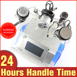 Wholesale Massage Machine For Slimming - 5in1 Bipolar RF Radio Frequency Ultrasonic Cavitation Vacuum Slimming Machine For Eyes Face Body Massage Fat Removal