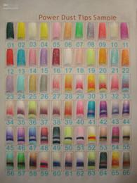 Wholesale Glitter Pre Design Nail Tips - FREESHIPPING--Wholesales 66 styles Glitter Nail Tips pre design Acrylic Nail Art Manicure 70 tips pa