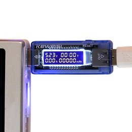 Wholesale Current Test - Wholesale- New USB Charger Doctor Mobile Power Detector Battery Test Voltage Current Meter 6412