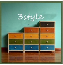 Wholesale Colorful Drawer - Free Shipping American chest of drawers simple pastoral office file cabinet drawer lockers colorful fashion wood storage cabinet