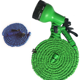 Wholesale Expandable Hose Wholesale - 3 Times Expandable Hose 25FT 50FT 75FTGarden Lawn Patio Watering Equipments Gun Flexible Hose Water Garden Pipe with 7 Kinds spray WX-P05