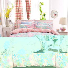 bedding coverlet sets Coupons - Wholesale-UNIHOME Bohemian Bedding Set Polyester Cotton Soft Bed Linen Duvet Cover Pillowcases Bed Sheet Sets Home Textile Coverlets