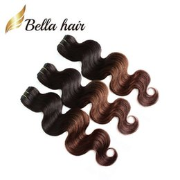 Wholesale New Star Hair - Queen Hair Products 2 Tone Ombre Weaves Peruvian Omber Hair Body Wave Human Hair Weft New Star T Color HairExtensions DHL Free Shipping