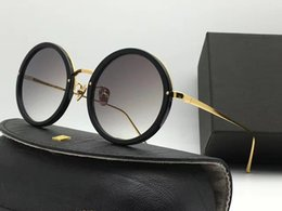 Wholesale Linda Farrow - LF457 Linda Farrow Luxury Fashiong Sunglasses With Coating Mirror Lens UV Protection Popular Brand Designer Titanium Round Frame Top Quality