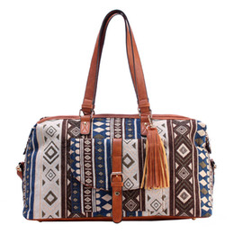 Wholesale National Lighting - Free Shipping New High-grade Jacquard Cloth Men and Women Casual Fashion Travel Shoulder Bag Canvas Unisex Backpack Wholesale