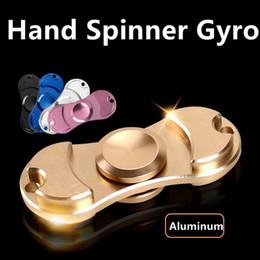 Wholesale Ball Spin - EPacket Toys EDC Torqbar Gyro Toys Fidget Spinner Fidgettoys Hand Spinner Silver Spin Steel Ball Bearings Hand Spinner Aluminum 5 Colour