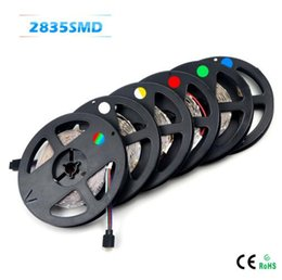 Wholesale String Lamp Price - Wholesale-SMD 2835 RGB LED Strip light 300 LEDs   5M New Year String Ribbon lamp More Brighter than 3528 3014; Lower Price 5050 5630 Tape