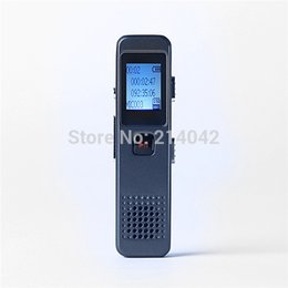Wholesale Voice Recorder Box - Wholesale- High quality Rechargeable 8GB Voice Activated USB Digital Audio Voice Recorder Dictaphone MP3 Player With Retail Box