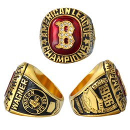 Wholesale Red Sox Championship Ring - High quality 1986 boston red sox american league championship ring Wagner championship ring