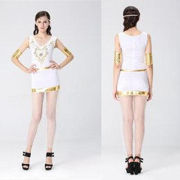 Wholesale Halloween Greek Goddess - Halloween Greek goddess role-playing ancient Egyptian queen cleopatra costumes Club theme party stage role-playing stage performance