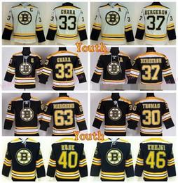 Wholesale Kids Black Ice Jersey - Boston Bruins Youth 63 Brad Marchand Jerseys Hockey Kids 30 Tim Thomas 33 Zdeno Chara 37 Patrice Bergeron 40 Tuukka Rask 46 David Krejci