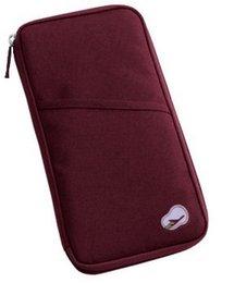 Мода путешествия кошелек Леди мужской паспорт билет ID держатель кредитной карты организатор сумки Zip холст кошелек обложка многоцветный бумажник от
