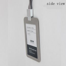 Wholesale Name Id Card - New Creative IC card Access Control ID CARD Sets Badge Holder Rounded Badges Work Card Work Permit Sets Office Supply Name Badge Credit Rfid