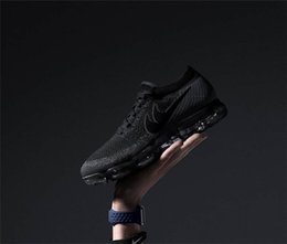 Wholesale Fashion Knit Fabrics - 2018 New VaporMax Men Running Shoes For Men Sneakers Knitting Fashion outdoor trainers Athletic Sport Shoe Full palm air cushion